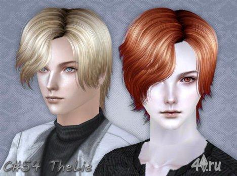 """Мужская прическа """"Ложь"""" от Cazy для The Sims 2"""