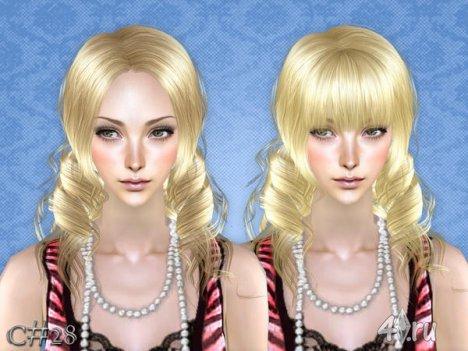 """Женская прическа """"Виола"""" от Cazy для The Sims 2"""