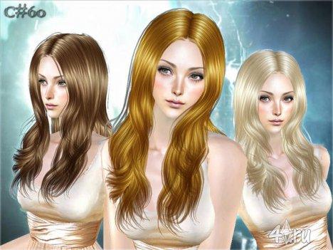 """Женская прическа """"Narve"""" от Cazy для The Sims 2"""