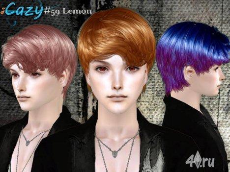 """Мужская прическа """"Лимон"""" от Cazy для The Sims 2"""