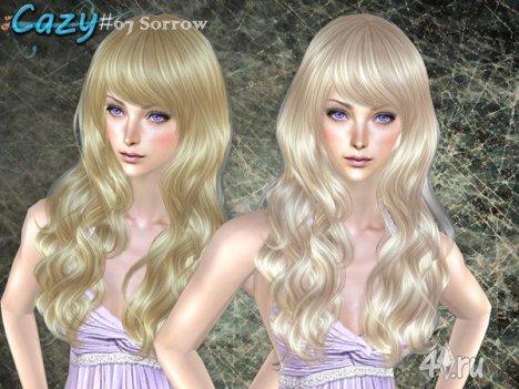 """Женская прическа """"Печаль"""" от Cazy для The Sims 2"""