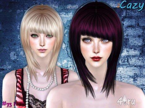 """Женская прическа """"IND"""" от Cazy для The Sims 2"""
