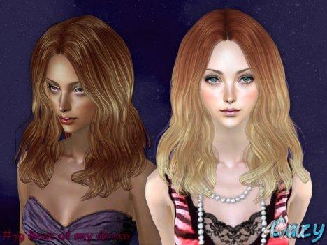 """Женская прическа """"BoMD"""" от Cazy для The Sims 2"""