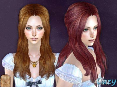 """Женская прическа """"Обещание"""" от Cazy для The Sims 2"""