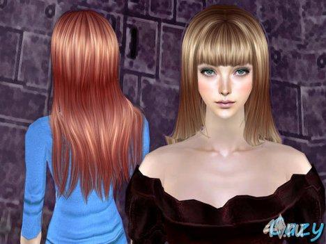 """Женская прическа """"Дитя Луны"""" от Cazy для The Sims 2"""
