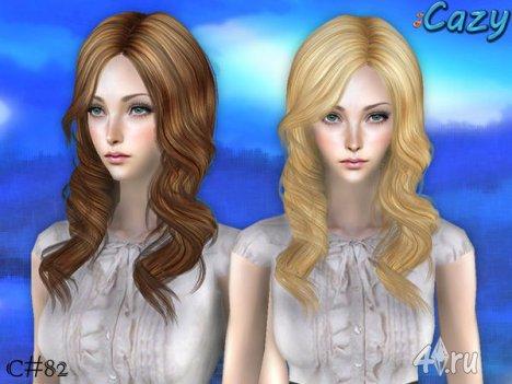 """Женская прическа """"Эмма"""" от Cazy для The Sims 2"""