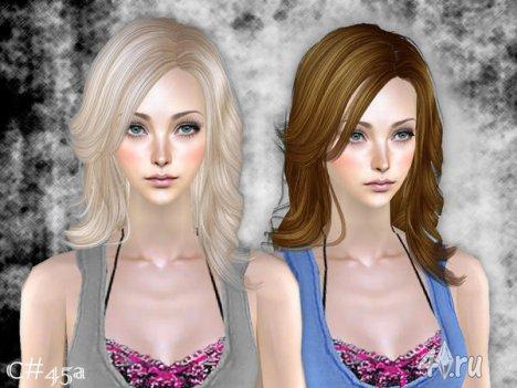 """Женская прическа """"BtVS"""" от Cazy для The Sims 2"""