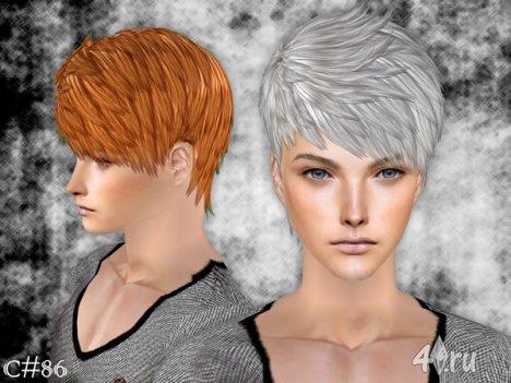 """Мужская прическа """"Демоническая"""" от Cazy для The Sims 2"""