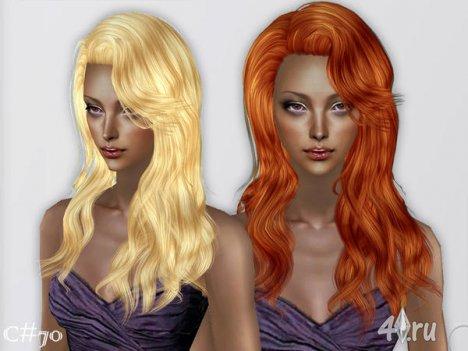"""Женская прическа """"Искусственная Любовь"""" от Cazy для The Sims 2"""