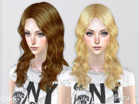 """Женская прическа """"Обычный День"""" от Cazy для The Sims 2"""