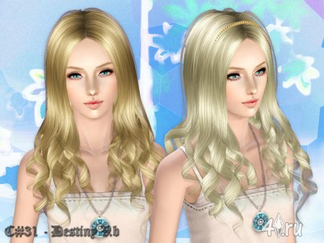 """Женская прическа """"Судьба"""" от Cazy для The Sims 3"""