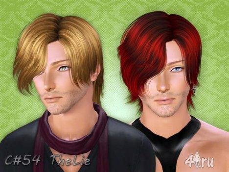 """Мужская прическа """"Ложь"""" от Cazy для The Sims 3"""