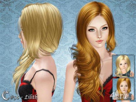 """Женская прическа """"Лилит"""" от Cazy для The Sims 3"""