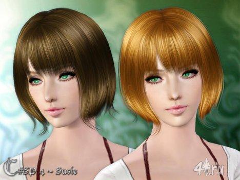 """Женская прическа """"Сьюзи"""" для взрослых и детей от Cazy для The Sims 3"""