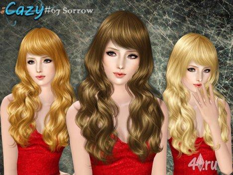 """Женская прическа для взрослых и детей """"Печаль"""" от Cazy для The Sims 3"""