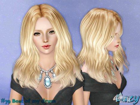 """Женская прическа """"BoMD"""" для взрослых и детей от Cazy для The Sims 3"""