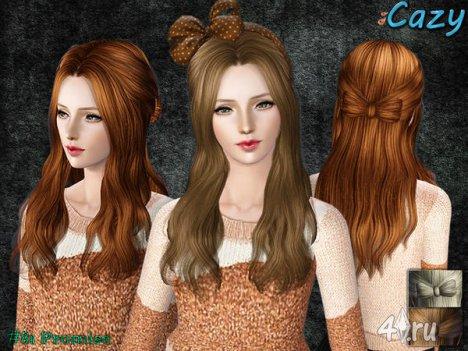 """Женская прическа """"Обещание"""" для взрослых и детей от Cazy для The Sims 3"""