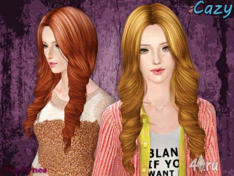 """Женская прическа """"Bynes"""" для взрослых и детей от Cazy для The Sims 3"""