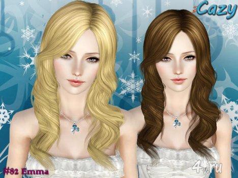 """Женская прическа """"Эмма"""" для взрослых и детей от Cazy для The Sims 3"""