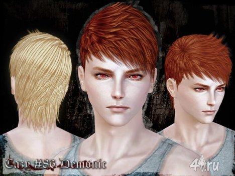 """Прическа для мужчин и женщин """"Демоническая"""" от Cazy для The Sims 3"""