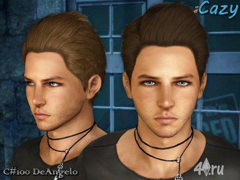 """Мужская прическа """"DeAngelo"""" для взрослых и детей от Cazy для The Sims 3"""