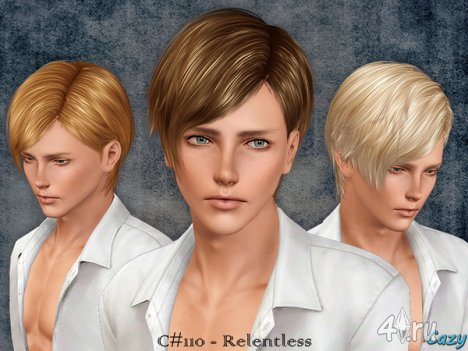"""Мужская прическа """"Безжалостный"""" для взрослых и детей от Cazy для The Sims 3"""