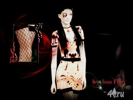 """Одежда и аксессуары """"Silent Hill"""" от Jess Fein для Симс 3 в формате sims3pack"""