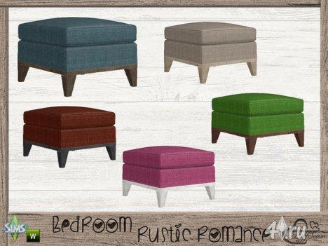 "Спальня ""Rustic Romance"" от BuffSumm для The Sims 4"