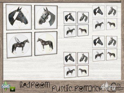 "Предметы декора ""Rustic Romance"" от BuffSumm для The Sims 4"
