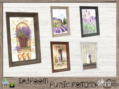 "Предметы декора ""Лаванда"" от BuffSumm для The Sims 4"