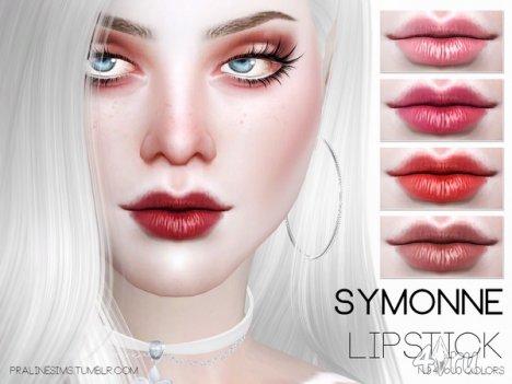 """Губная помада """"Symonne"""" от Pralinesims для The Sims 4"""