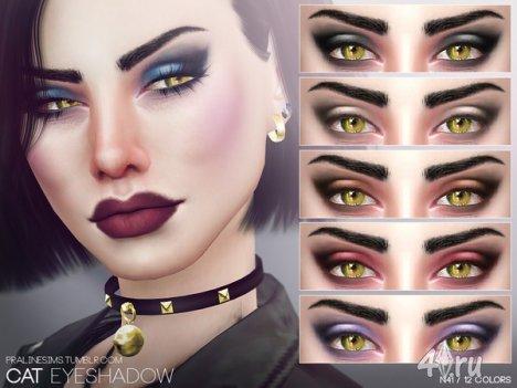 "Брови ""Кошачьи"" от Pralinesims для The Sims 4"