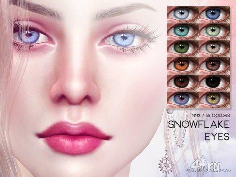 "Линзы ""Снежинка"" от Pralinesims для The Sims 4"