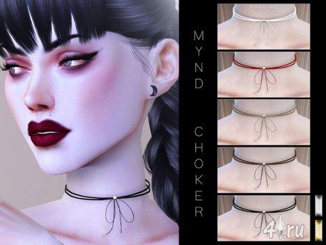 """Чокер """"Mynd"""" от Pralinesims для The Sims 4"""