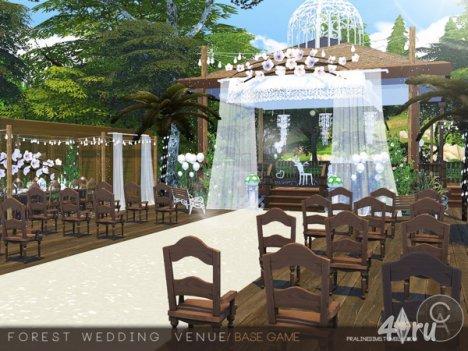 Свадьба в лесу от Pralinesims для The Sims 4