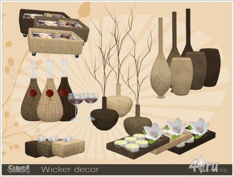 Сет плетеного декора от Severinka для The Sims 4