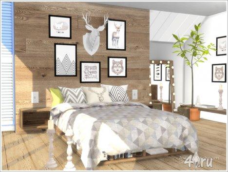 Спальня в скандинавском стиле от Severinka для The Sims 4