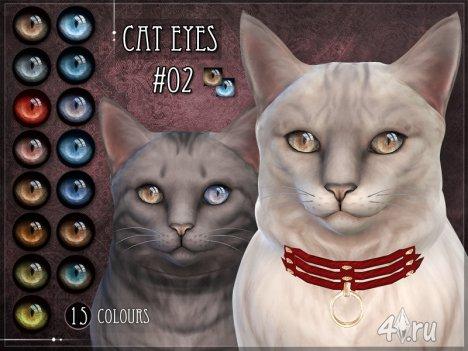 Линзы для глаз кошки от Ремуса (Симс 4)