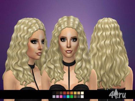 Причёски на основе гофре от Badkarma для игры Симс 4