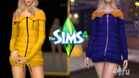 Женская тёплая куртка для игры Симс 4 от SONYA