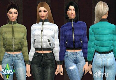 Стильная женская куртка от Fanbg для Симс 4