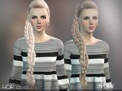 """Причёска """"Тройная плетеная коса"""" от Wings для Симс 3 в формате sims3pack"""