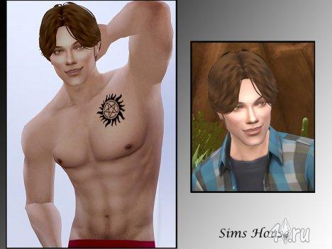 """Сим Сэм Винчестер из сериала """"Сверхъестественное"""" от SimsHouse для Симс 4"""