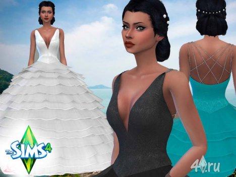 Пышное свадебное платье от Urbanos для Симс 4