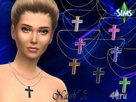 Кристаллический крест-кулон от Натали для Симс 4