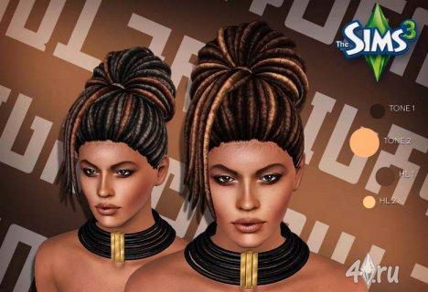 Причёска с дредами от Nightcrawler для Симс 3