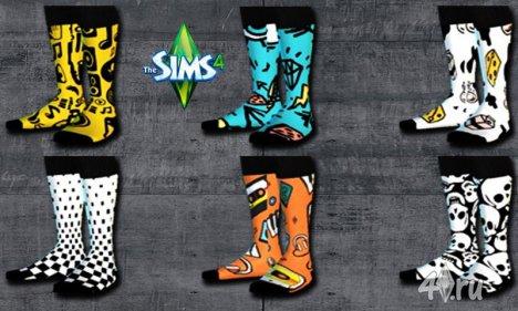Прикольные детские носки от thlleite для Симс 4