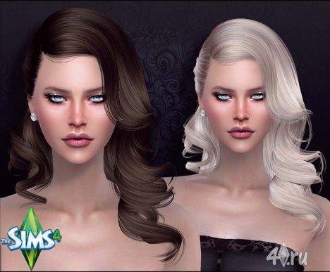 Причёска фотомодели Кары Делевинь от Анто для Симс 4