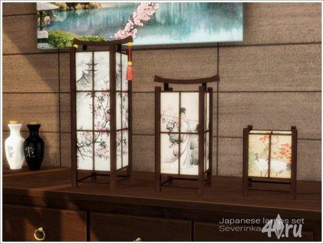 Набор светильников в японском стиле от Severinka для The Sims 4