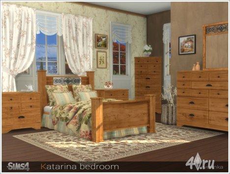 Набор мебели и декора для спальни в стиле кантри от Severinka для The Sims  ...